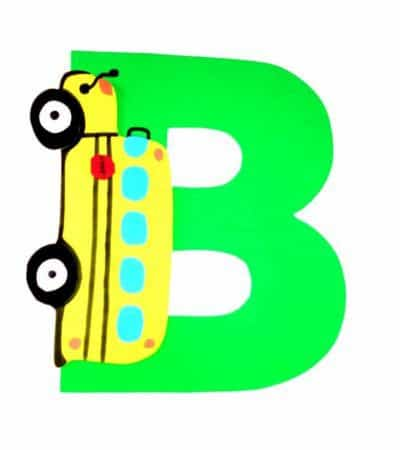 Letter B Craft With Printable – B is For Bus