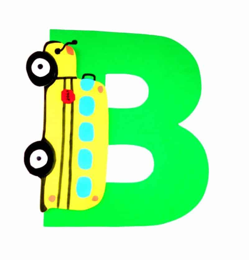 This letter B craft with printable template is part of our letter of the week craft series for toddlers and preschoolers. Letter B is for bus.