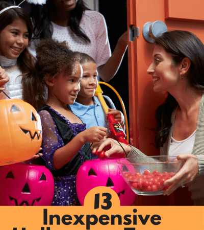 These 13 inexpensive Halloween treats that aren't candy make the perfect allergy-free treats for Trick-or-Treaters for the Teal Pumpkin Project!