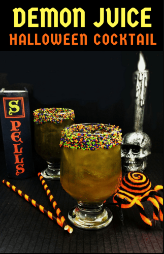 This citrus and sour apple Demon Juice Halloween Cocktail has a powerful punch that will pucker your lips and leave you begging for more.