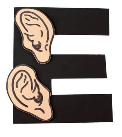 Letter E Craft with Printable: E is for Ears