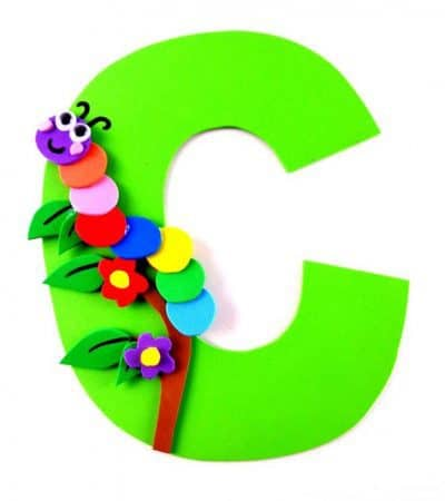 Letter C Craft With Printable – C is For Caterpillar