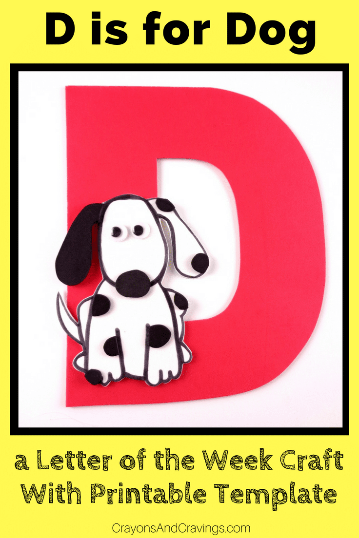 photograph about Printable D&d Miniatures called Letter D Craft With Printable D is For Doggy - Letter of the