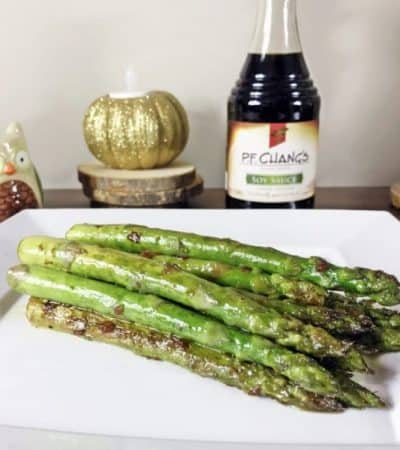 Pan Seared Asparagus With Soy Sauce and Garlic