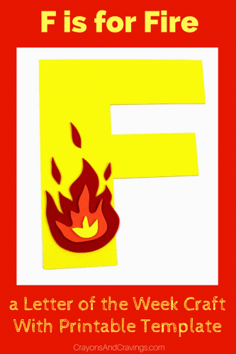 This letter F is for fire craft with printable template is part of our letter of the week craft series, designed to foster letter recognition in toddlers and preschoolers.