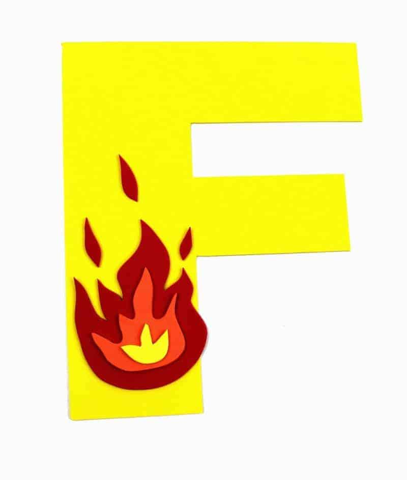 photograph about Letter F Printable identify Letter F Craft with Printable - F is for Fireplace - Letter of
