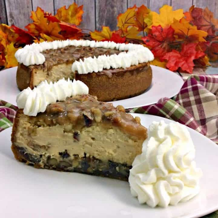 If you love cheesecake and pecan pie, you're going to flip over this pecan pie cheesecake. The combination of these two desserts is downright decadent.