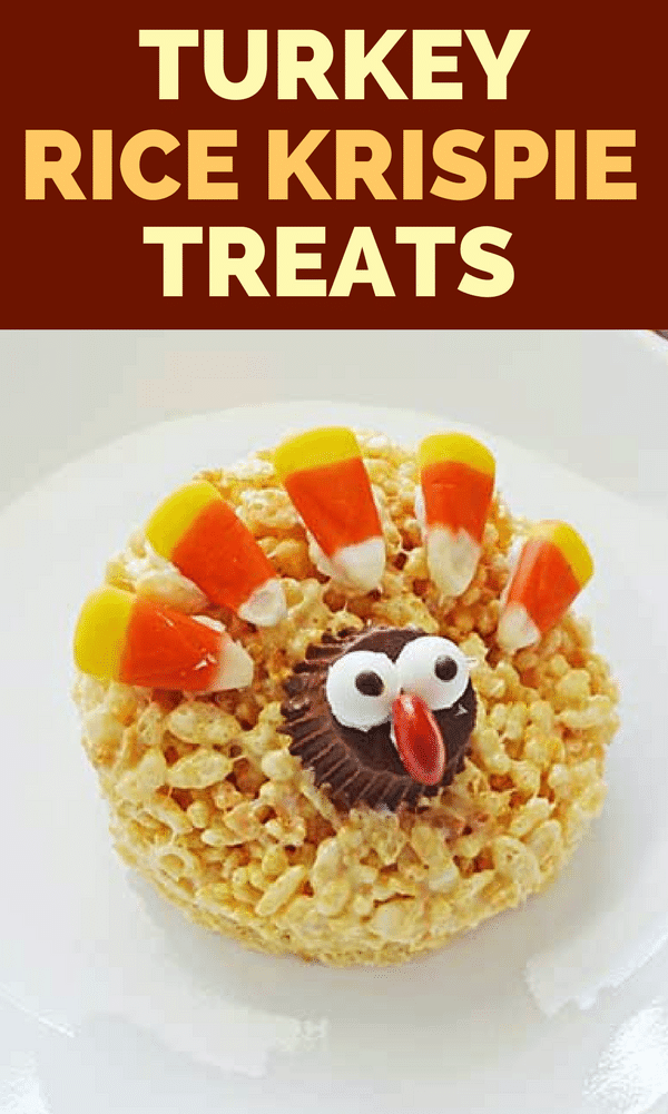 These easy-to-make, no bake, Rice Krispie Turkey Treats are sure to be the hit of the dessert table this Thanksgiving - especially with the kids!