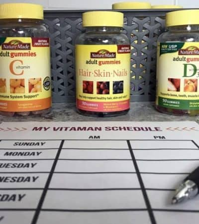 My tips for vitamin organization and storage (where you will see them and not forget to take them) as well as a helpful weekly vitamin schedule printable.
