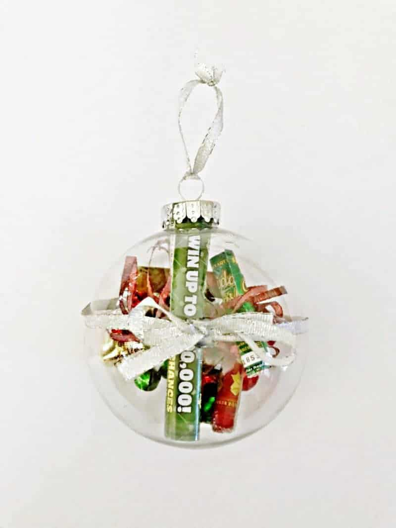 Christmas Lottery Ticket Ornament - Easy DIY Gift Idea