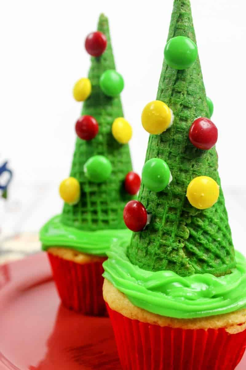 Easy Christmas Tree Cupcake Recipe