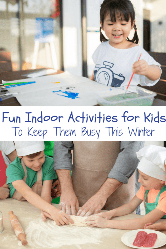 These fun indoor activities for kids will help to keep the little ones busy during those long hours stuck at home and inside this winter.