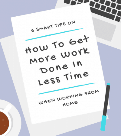 Do you work from home and have difficulty getting work done in a timely manner? These 6 tips will help you to get more work done in less time by increasing your productivity and efficiency, limiting your distractions, and improving your workflow.