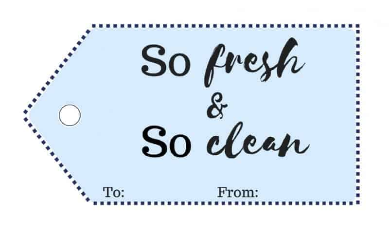 "This ""So Fresh and So Clean"" DIY gift basket for him makes the perfect gift idea for all the men on your holiday shopping list."