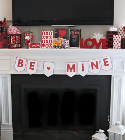 """Baby's First Valentine's Day + Printable DIY """"Be Mine"""" Valentine Banner"""