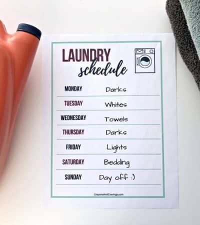 Stay on top of your laundry pile with the help of these smart laundry routine tips and free laundry schedule printable.