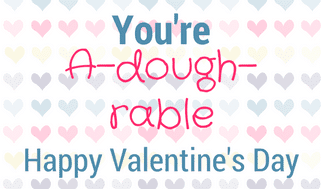 "With this ""You're A-dough-rable"" Play Doh Valentine printable you can turn a plain jar of playdough into a Valentine's Day gift that is perfect for kids to give their classmates or their teachers."