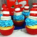 Cat in the Hat Cupcakes Perfect For a Dr Seuss Day Party
