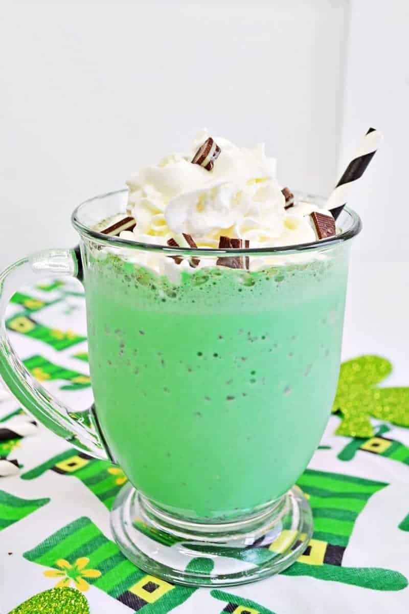 Shamrock Shake: A Delicious Mint Chocolate Chip Milkshake