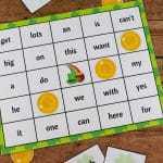 St. Patrick's Day Bingo with Sight Words