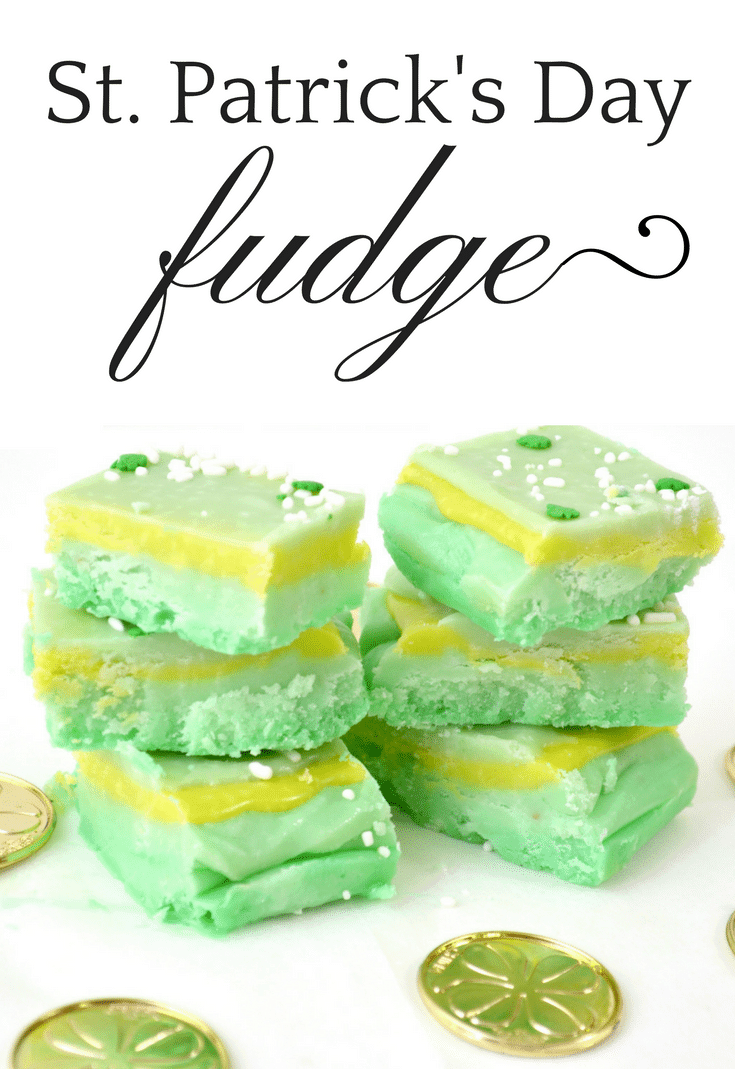 Sweet and creamy homemade fudge with green food coloring is the perfect St. Patrick's Day treat. Made with marshmallow fluff, sugar, butter, and white chocolate, this St. Patrick's Day green fudge recipe is sure to be a hit.