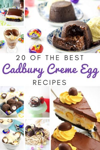 If Cadbury Creme Eggs are your favorite Easter treat you are going to go crazy for these 20 amazing Cadbury Creme Egg recipe ideas. From Cadbury Creme Egg cupcakes to a Cadbury Creme Egg Gelato, you will find lots of tasty Cadbury Egg recipes to try this Easter.