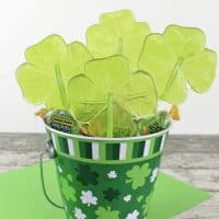 Easy Green Shamrock Jolly Rancher Lollipops for St. Patrick's Day