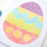 Salt Glitter Easter Egg Canvas