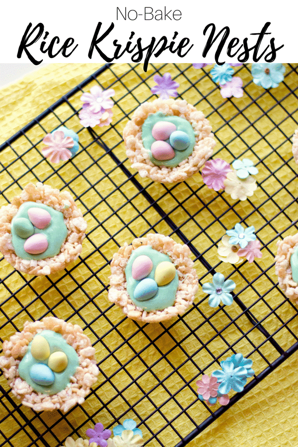 Whether you are looking for the perfect Easter dessert or simply a fun treat to make with the kids this Spring, these Rice Krispie nests are sure to be a hit. They are easy to make, super adorable, and delicious too!