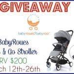BabyRoues Stroller Giveaway (3/26 US)