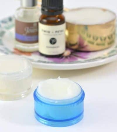 This 3-Ingredient Peppermint Lavender Homemade Vapor Rub is easy to make at home using essential oils. You will love how this all-natural DIY essential oil chest rub helps to relieve congestion.