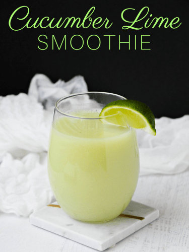 This refreshing cucumber lime smoothie recipe combines cucumber and lime juice with honey and ice to create a flavor combination that will refresh you even on the hottest summer days. It is great for hydration, detox, digestion, and weight loss.