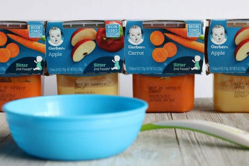 Luckily for busy mamas and papas everywhere, Gerber 2nd Foods® purees are a great alternative to homemade. They are made with real fruit and have a thick texture similar to what I would make in my own kitchen.