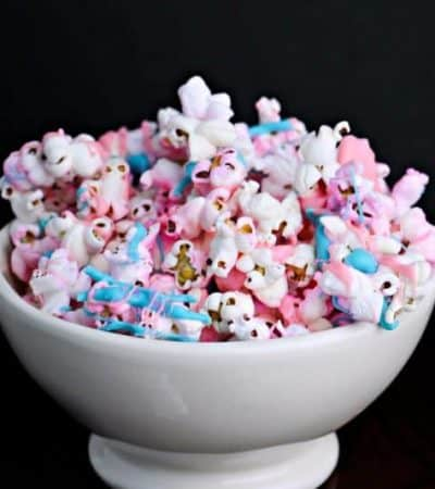 Unicorn popcorn is an easy to make and colorful treat that is perfect for your unicorn themed birthday party or unicorn sleepover!