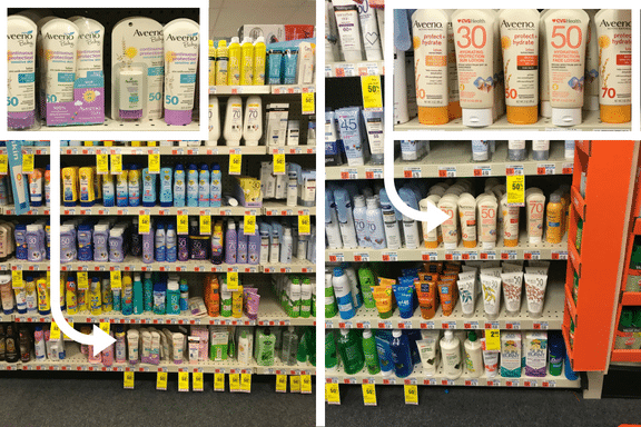 Aveeno Suncare at CVS