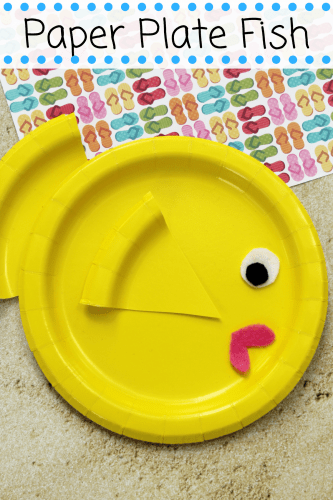 Bright and colorful paper plate fish craft is a fun and easy summer craft idea for children to make at home or in preschool. This easy paper plate craft is made using a paper plate, craft felt or paper, and glue.