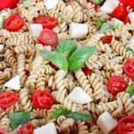 Easy Caprese Pasta Salad with Fresh Mozzarella