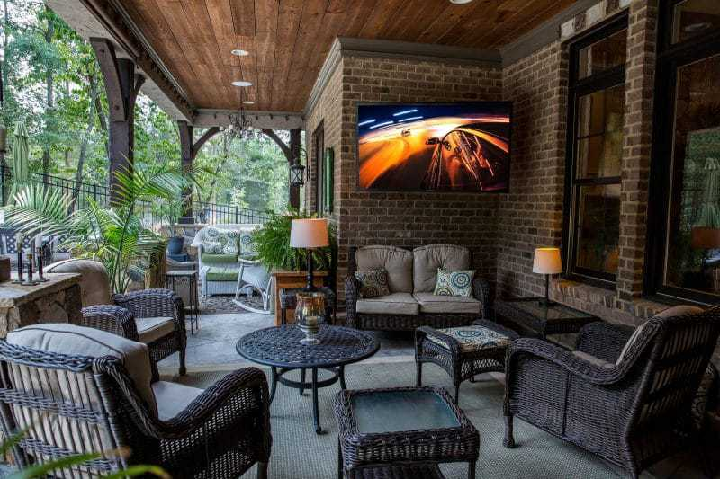 Indoor televisions are not meant to be used outdoors. The SunBriteTV Veranda series is designed for outdoor use in full-shaded areas.