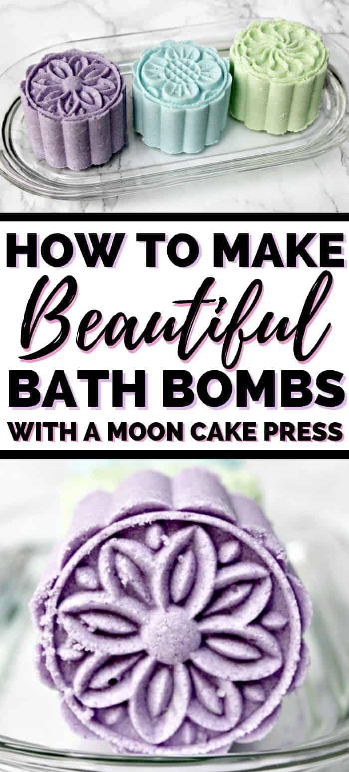 How to Make Beautiful Bath Bombs with a Moon Cake Press