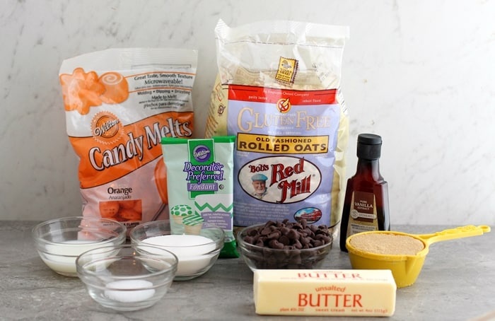 Halloween Cookie Dough Pumpkin Pop Ingredients