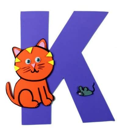 Letter K Craft With Printable – K is For Kitten