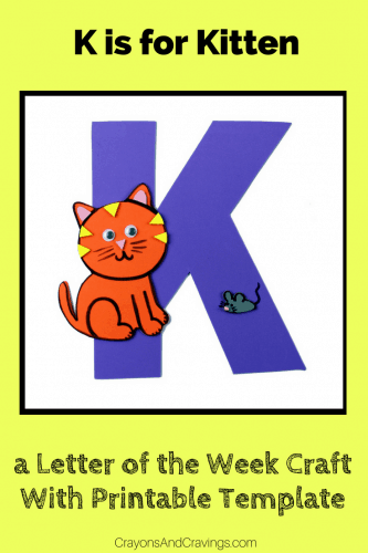 This letter K craft with printable template is part of our letter of the week craft series, designed to foster letter recognition in preschoolers.