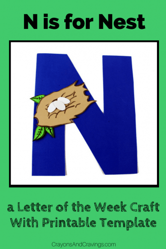 This letter N craft with printable template is part of our letter of the week craft series, designed to foster letter recognition in preschoolers.