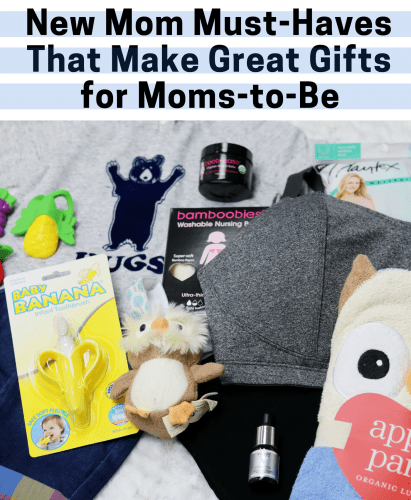 Eight new mom must-haves that would make great baby shower gifts for moms-to-be.