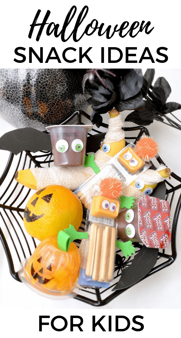 Perfect for kids' lunchboxes or classroom parties, these fun Halloween snacks for kids are quick, easy, and inexpensive to make.
