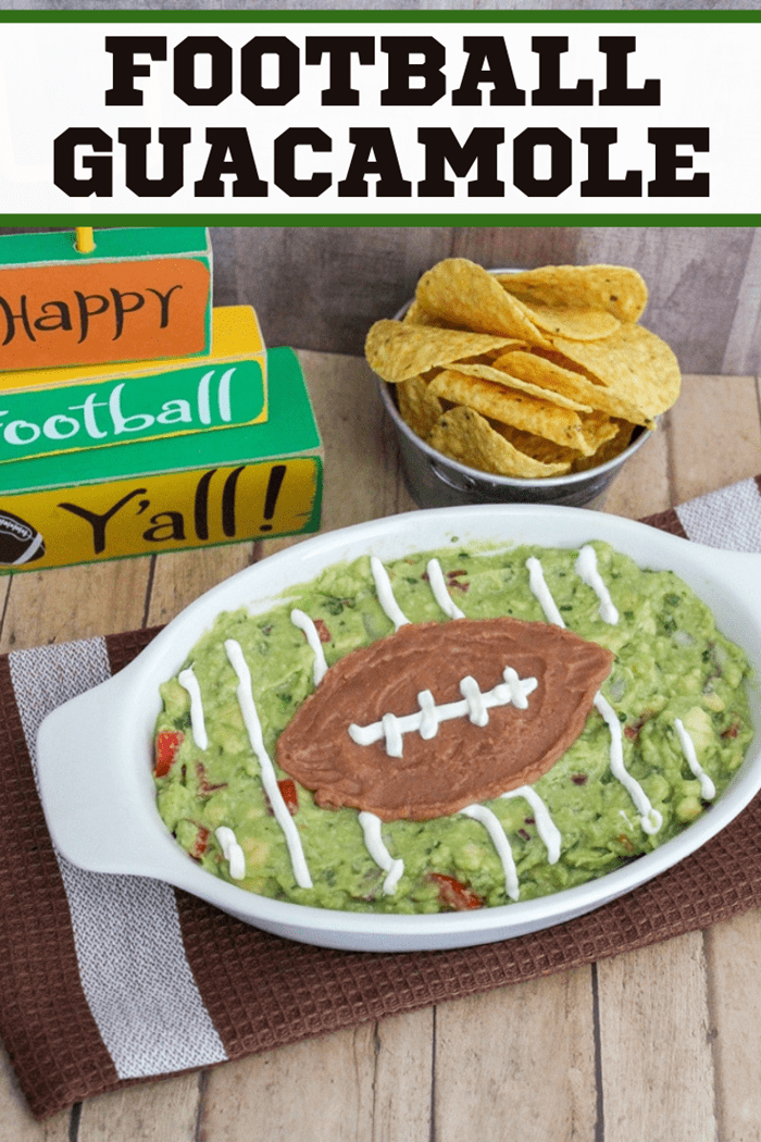 Homemade guacamole is a big game must have. This easy guacamole football recipe makes a perfect game day snack for the big game or any game!