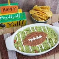 Easy Guacamole Football