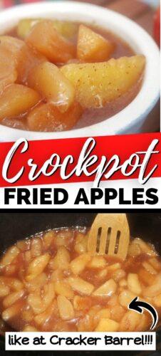 Crockpot Fried Apples