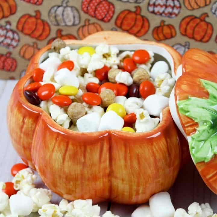 Fall snack mix is the perfect no-bake treat for those nights where your family wants something sweet, but you don't want to spend hours in the kitchen. Plus, it is a great snack to serve at parties!