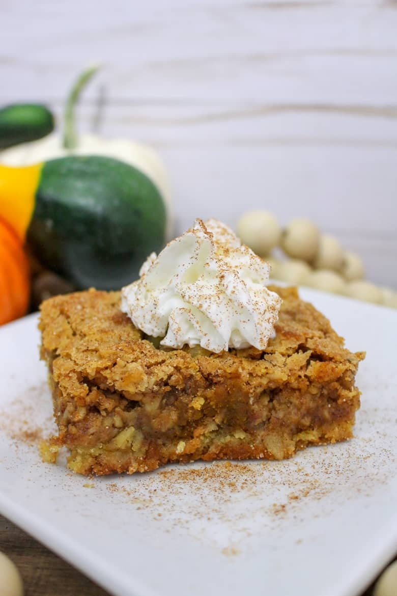 Warm and full of Fall flavors - once you try this easy pumpkin crisp recipe it will become your go-to dessert of the season.